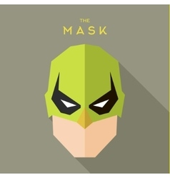 Hero Mask superhero head face flat style graphics vector