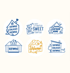 home sweet home quotes creative lettering and vector image