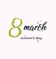 international womens day greeting card 8 march vector image