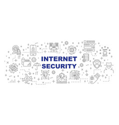 internet security banner design concept vector image