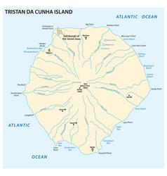 map tristan da cunha island in atlantic ocean vector image