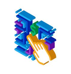 Money-making innovation isometric icon vector