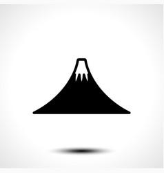 Mountain icon on white background vector