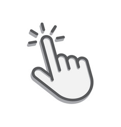 one finger tap icon isometric image on a white vector image