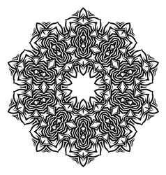 Ornamental oriental geometric ornament vector