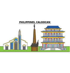 Philippines caloocan city skyline architecture vector