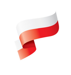 poland flag on a white vector image