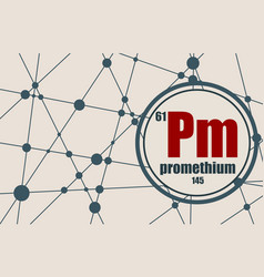 promethium chemical element vector image