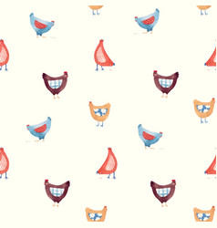 seamless pattern with nice cute watercolor vector image