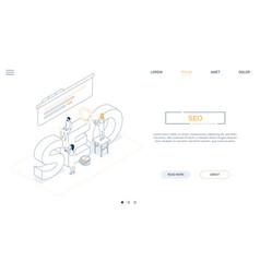 seo optimization - line design style isometric web vector image