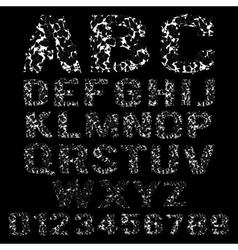 Set broken white frame alphabet vector