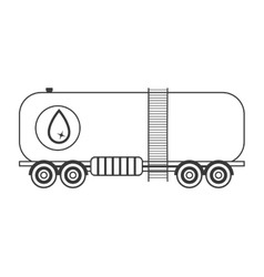 Silhouette with transport of fuel tank vector