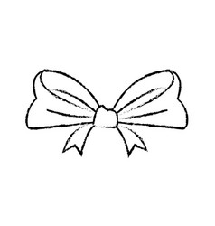 Smooth ribbon beam bow decoration image vector