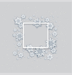 snow holiday frame vector image