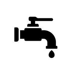 tap icon faucet icon water vector image