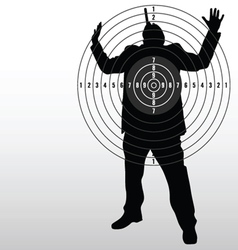 Target with man black silhouette vector
