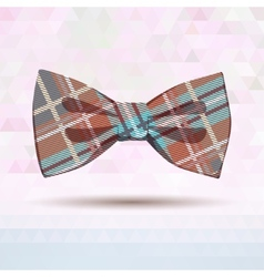 Tartan bow-tie in pastel colors vector image