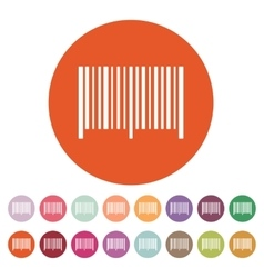 The barcode icon Identification and ID symbol vector image