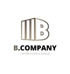 trendy isometric B letter logo vector image