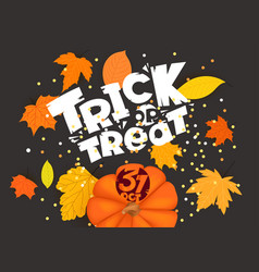 trick or treat holiday banner template vector image