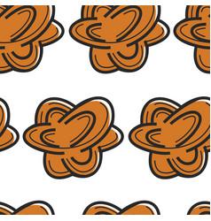Tunisian souvenir desert rose seamless pattern bud vector