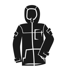 winter ski jacket icon simple style vector image