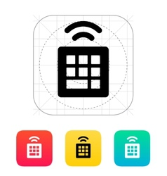 Wireless small keyboard icon vector image