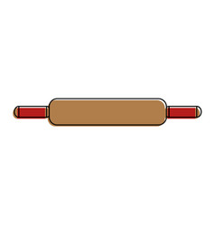 wooden roll pastry icon vector image