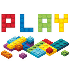 Word play and colorful blocks vector