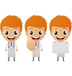 young doctor cartoon vector image
