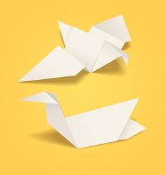 Abstract origami birds vector image vector image