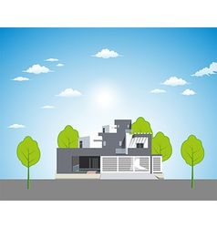 Apartment landscape background vector image