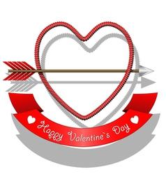 Love arrows vector image vector image