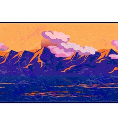 Mountains in the manner of Impressionism vector image