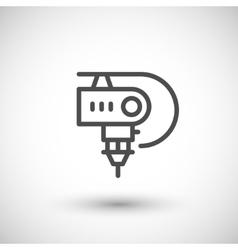 Robotic machine part line icon vector