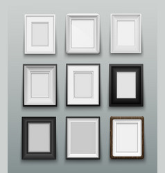 set frame for photos or paintings on wall vector image