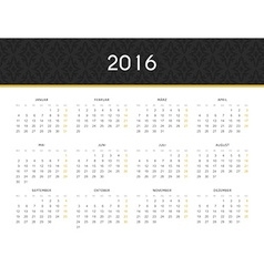 Simple modern calendar 2016 in german ready for vector