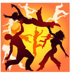 dancing tricks vector image