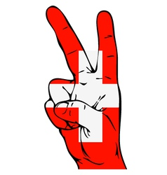 Peace Sign of the Swiss flag vector image vector image