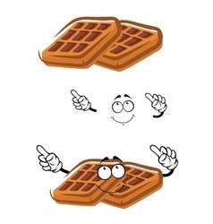 Cartoon classic sugar waffle character vector image vector image