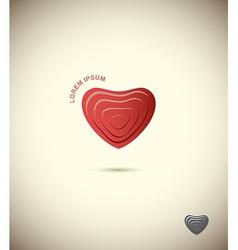 Logo Heart symbol Icon web vector image