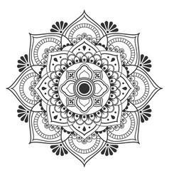 thai ancient flower traditional art design vector image