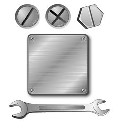 wrench-screws vector image