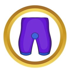Bike cycling shorts icon vector