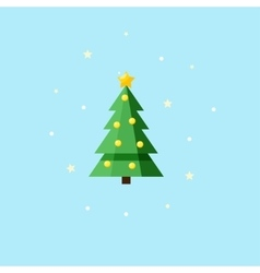 Christmas decorated fir-tree - icon vector