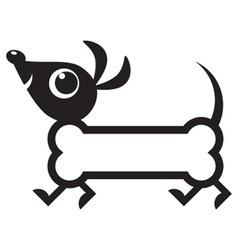 cute dog icon vector image vector image