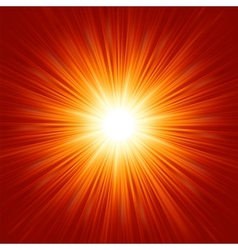 Star burst red and yellow fire EPS 8 vector image vector image