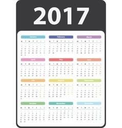 2017 year calendar vector image