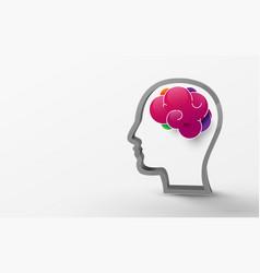 3d human brain model vector image