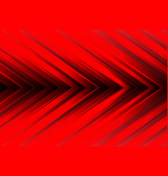 abstract red light arrow direction design modern vector image